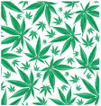 marijuana green pattern background vector image vector image