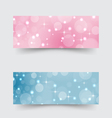 Modern banners with abstract circles and stars vector image