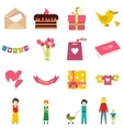 Mother Day flat icons vector image vector image