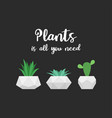 plants is all you need graphic for t-shirt vector image