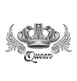 queen crown vector image vector image