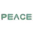 romantic peace lettering in style hippie vector image vector image