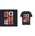rugged graphic modern t-shirt design vector image vector image