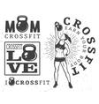 Set of fitness emblems vector image