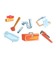 set satinics and tools vector image