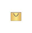 Shopping bag computer symbol vector image vector image