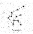sign zodiac aquarius white sky background vector image