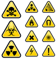 Signs of danger vector image