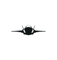 simple black fighter jet plane icon on white vector image