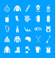 snowboard equipment winter icons set simple style vector image vector image