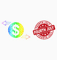 spectrum dot dollar exchange arrows icon vector image vector image