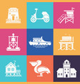 summer travel icons set vector image