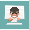 Thief holding a credit card Concept of safe vector image