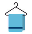 towell hanging in the laundry vector image