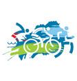 triathlon race iron man vector image vector image
