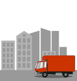Truck in the City vector image vector image