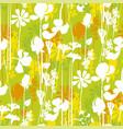 vivivd green summer meadow seamless pattern vector image