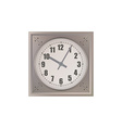 Wall Clock isolated on white background vector image vector image