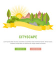 website banner and landing page cityscape vector image vector image