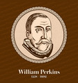william perkins was an influential english cleric vector image vector image