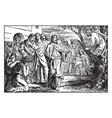 zacchaeus the chief tax collector climbs a tree vector image vector image