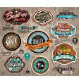 Set of Premium Quality Vintage Labels vector image