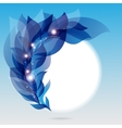 Abstract frame with branch of blue leaves vector image