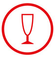 empty wine glass rounded icon vector image