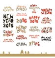 A large collection of Christmas greeting phrases vector image vector image