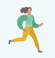 admire running woman that is hurrying vector image vector image