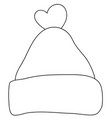 adult coloring bookpage a cute christmas cap vector image