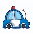 Ambulance car funny vector image vector image