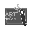 art of design courses monochrome logotype isolated vector image vector image
