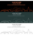 atlanta event banner hand drawn skyline vector image vector image