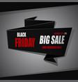 black friday sale background white ribbon banner vector image vector image
