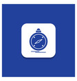 blue round button for compass direction vector image