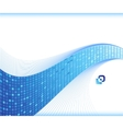 blue wave - business card template vector image