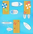 boats and yachts vector image