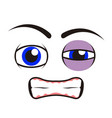 borderless angry emoticon vector image
