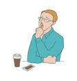 bored man - male character vector image