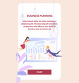 business planning analysis character mobile banner vector image vector image