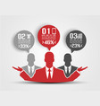 businessman concept of five option red 2 vector image vector image