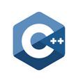 c plus plus programming language emblem vector image vector image