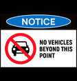 car forbidden icon vehicle prohibited symbol sign vector image