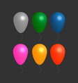 colorful realistic helium balloons vector image vector image