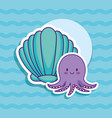 cute octopus icon vector image vector image