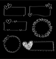 Doodle heart frames vector image vector image
