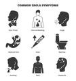 Ebola virus symptoms icons set vector image