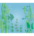 Fish tank vector image