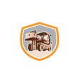Forklift Truck Materials Handling Logistics Shield vector image vector image